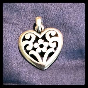 James Avery Floral Heart sterling pendant/charm